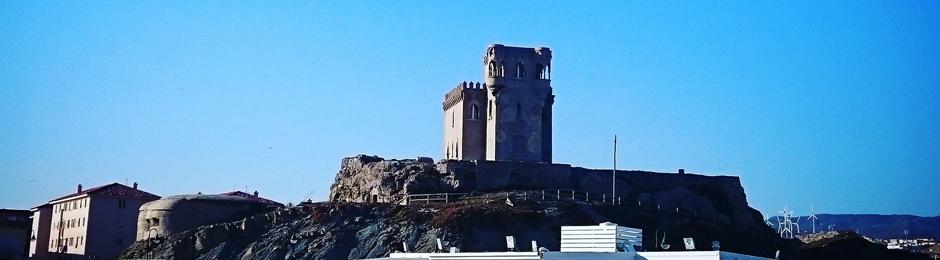 Castillo en el Cerro de Santa Catalina en Tarifa