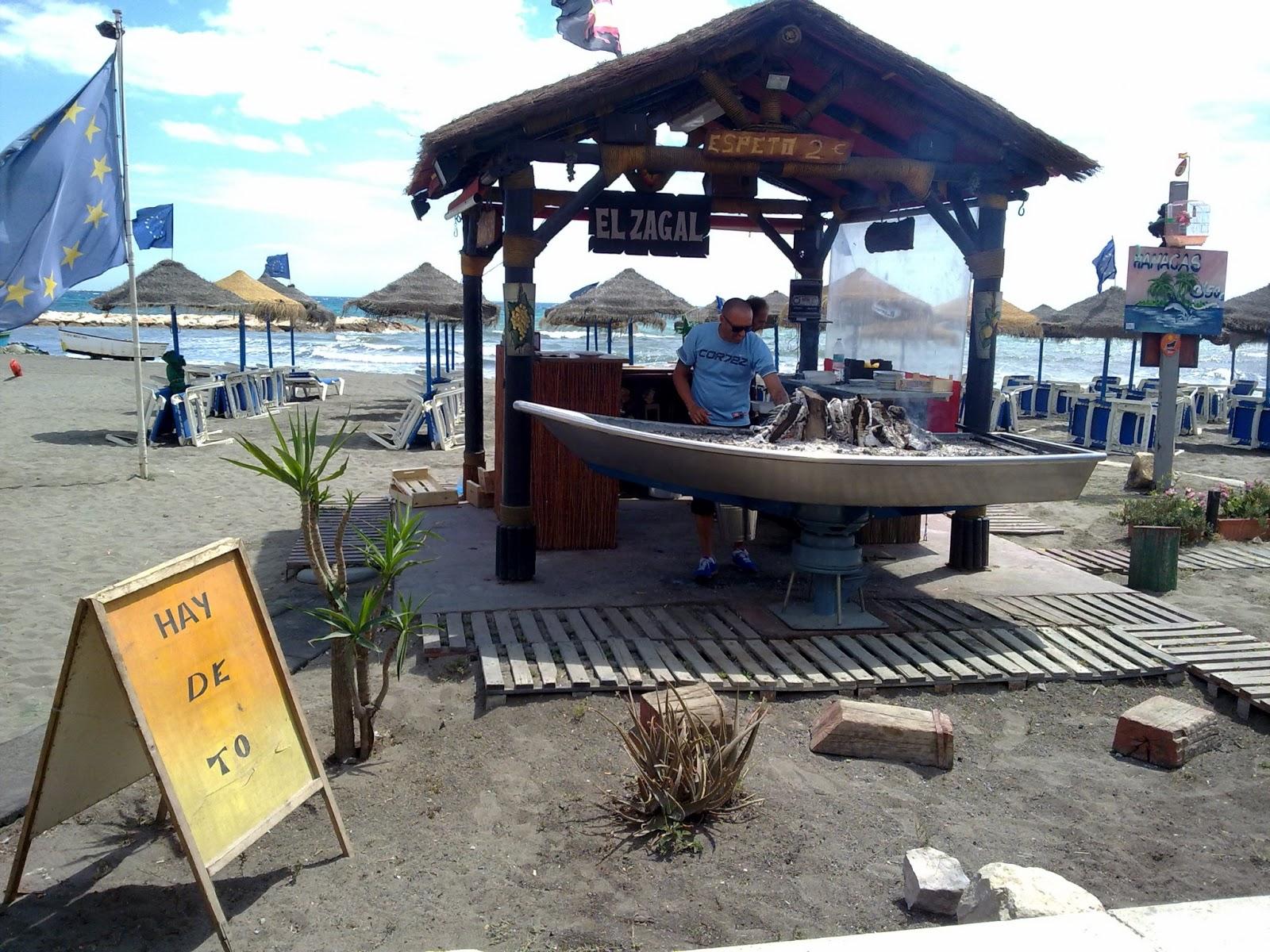 Chiringuito en la Playa del Palo de Málaga