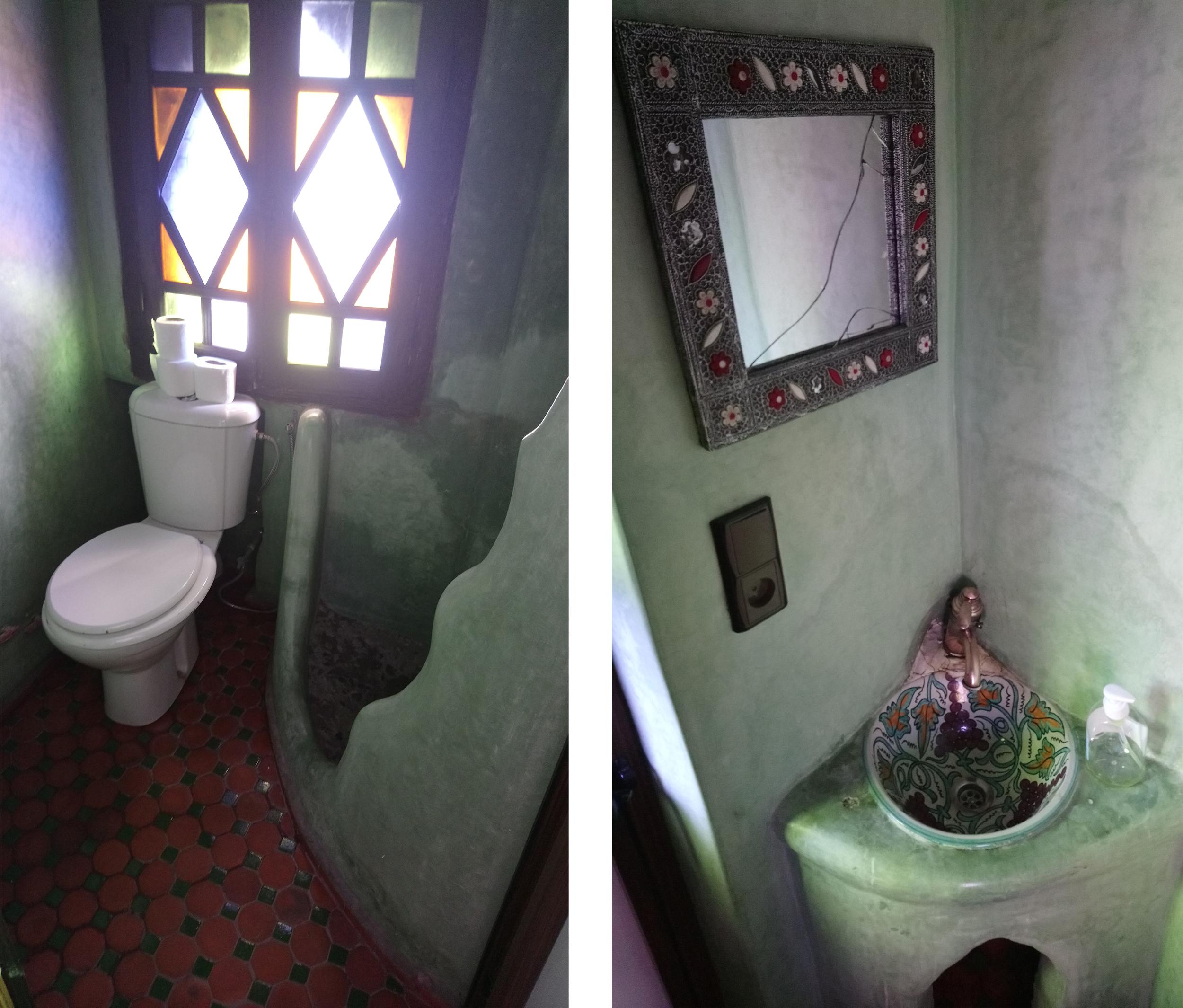 Baño y ducha del Riad en Chaouen