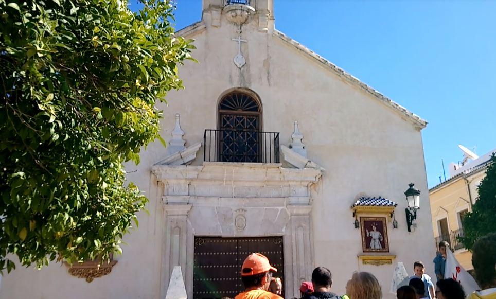 Llegada a la iglesia de los Remedios
