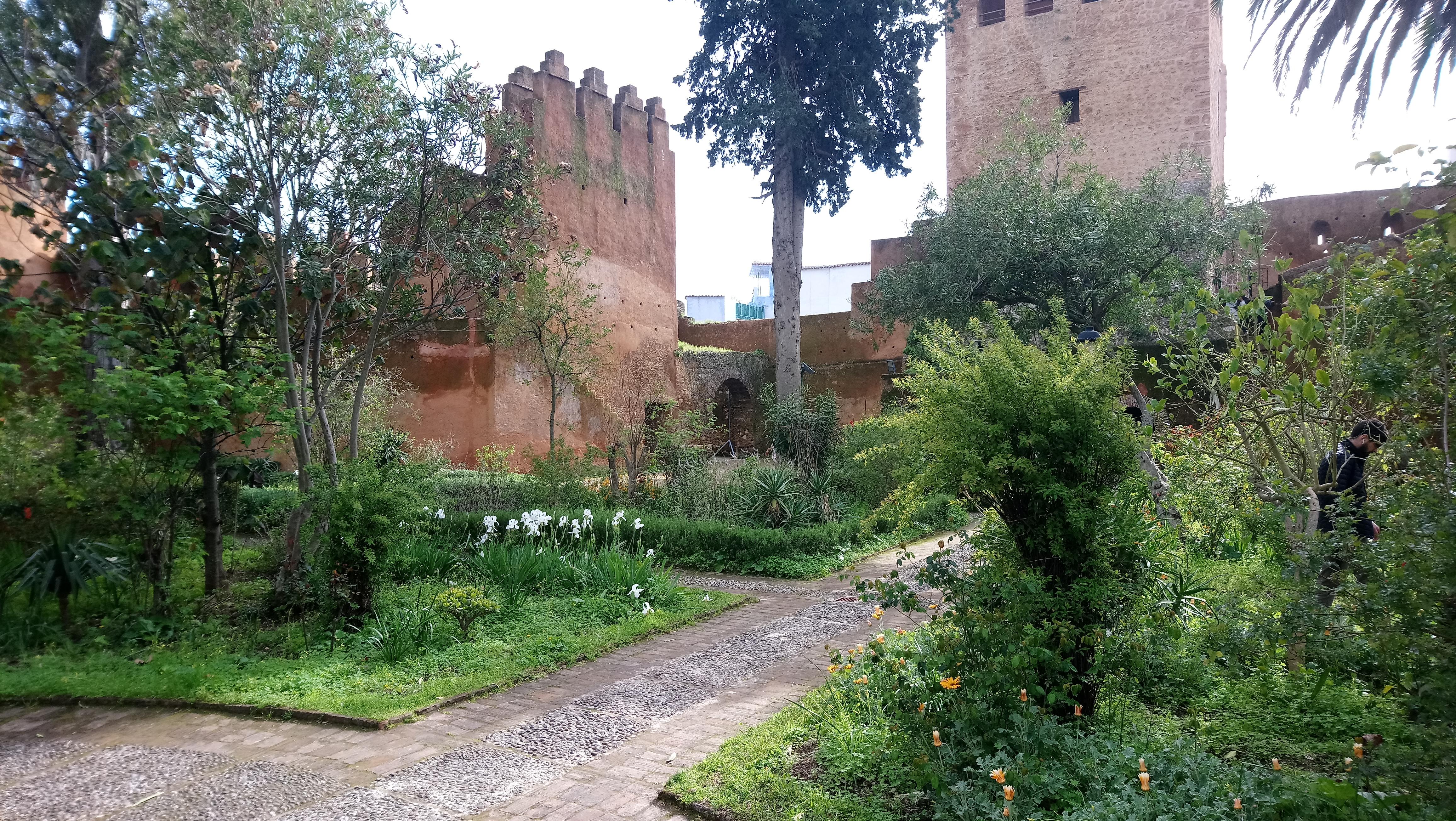 Patio ajardinado Kasbah de Chaouen