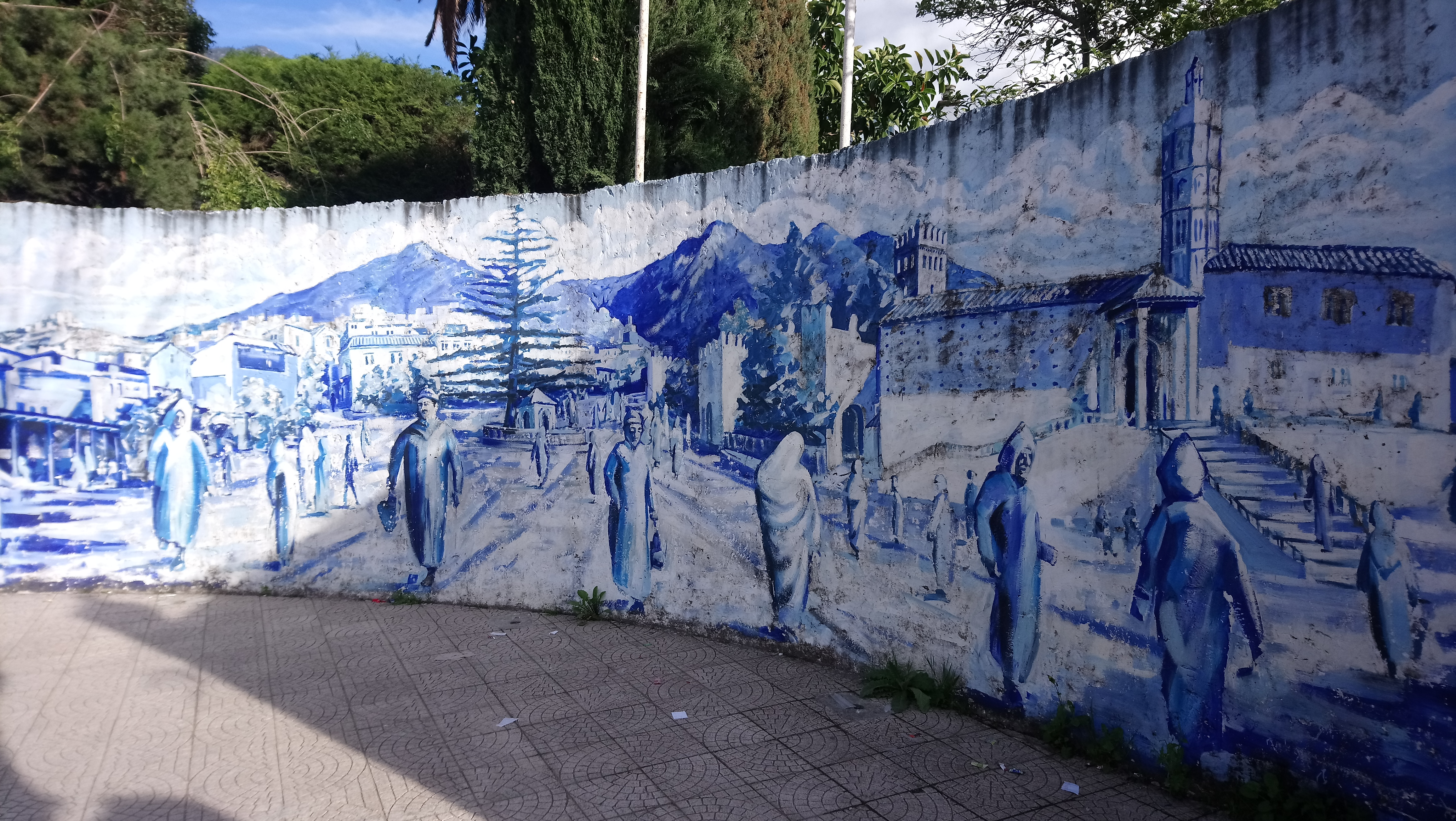 Pintura en Chaouen