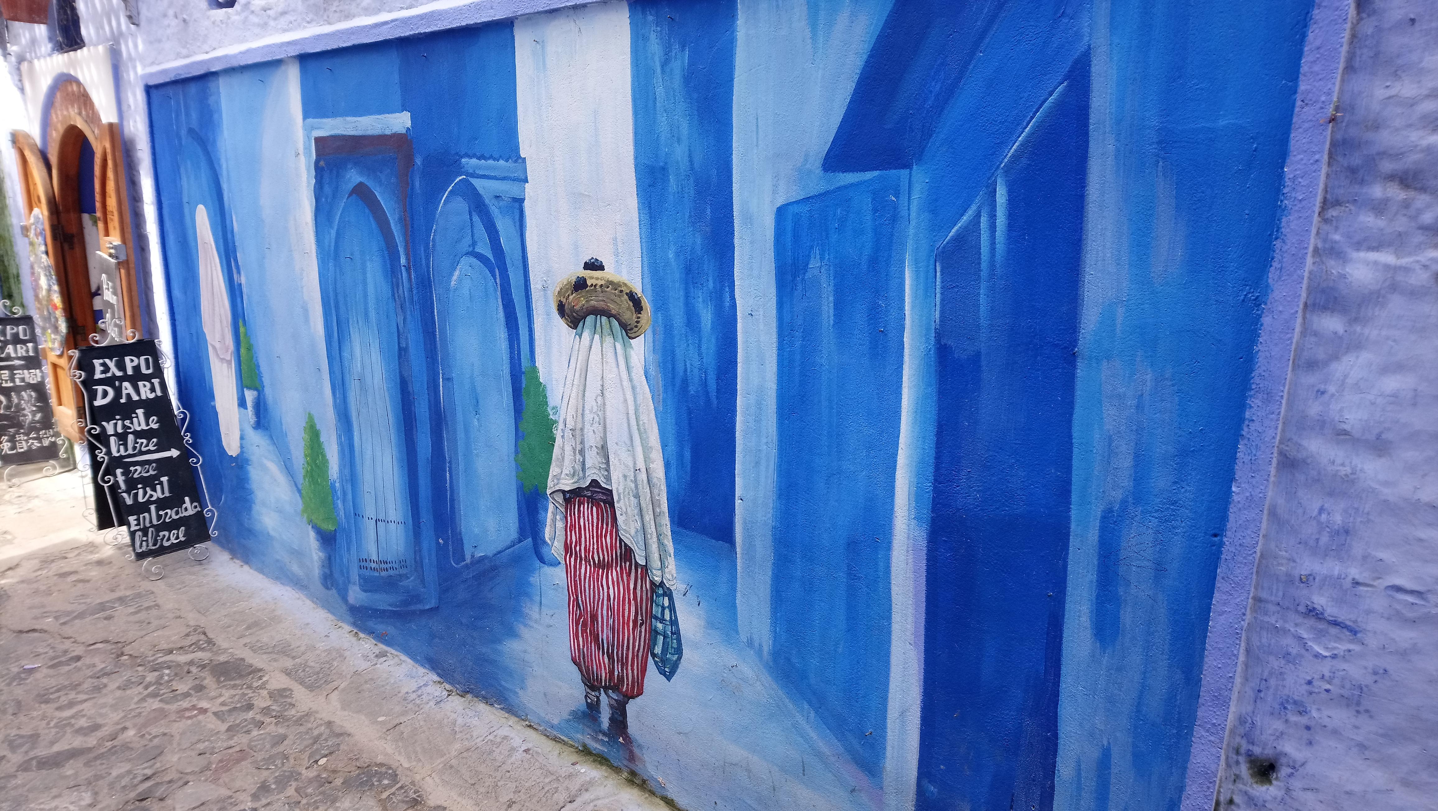 Mural en Chaouen
