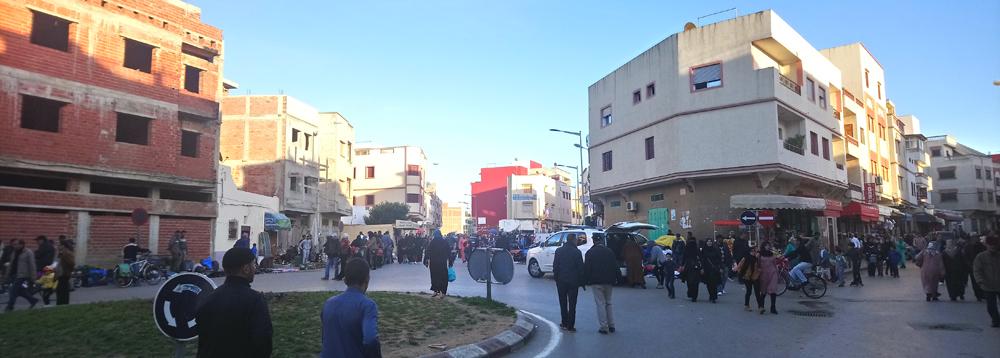 Zona de tiendas y mercado en Arcila