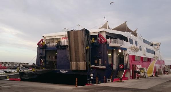 Ferry en el Puerto de Tarifa