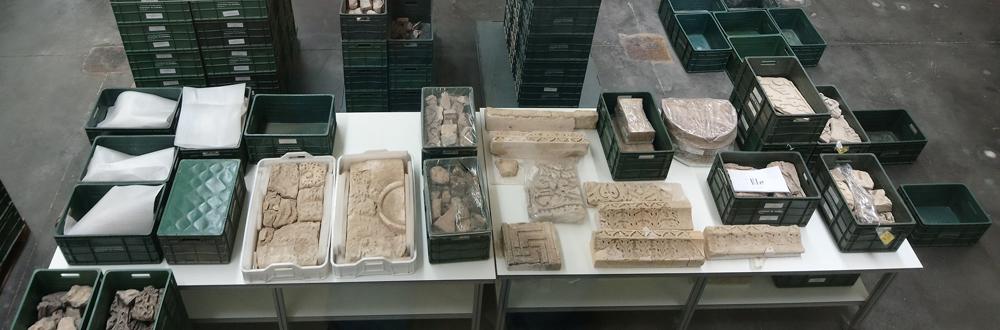 Piezas restauradas en Medina Azahara