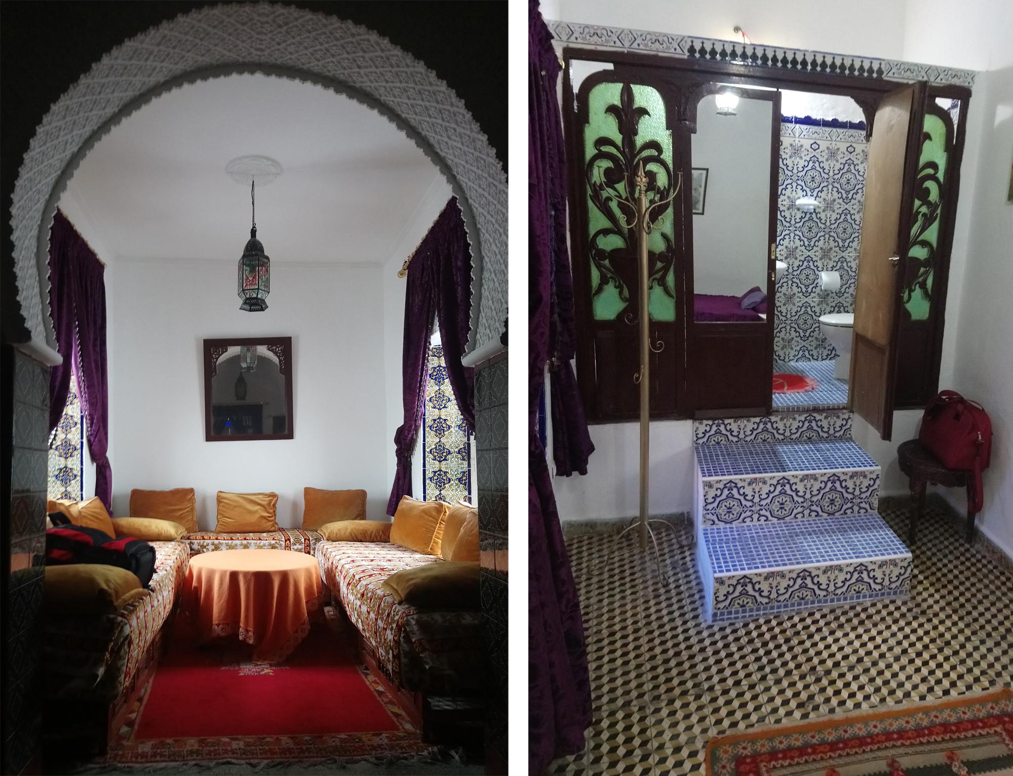 Salón de té en el Riad