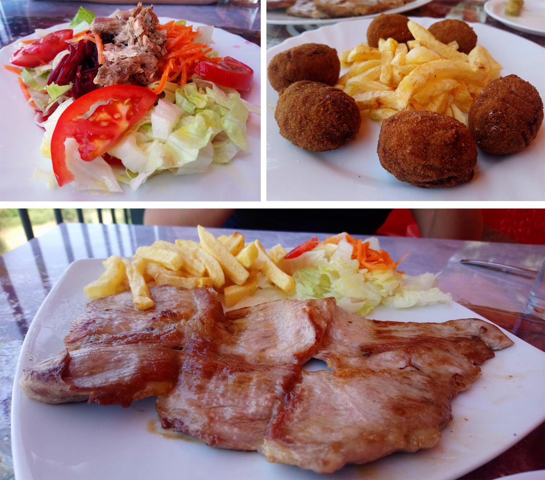 Comer en Las Palomas, cerca de Lora