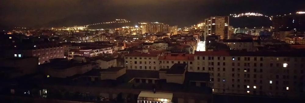 Panorámica de Bilbao por la noche