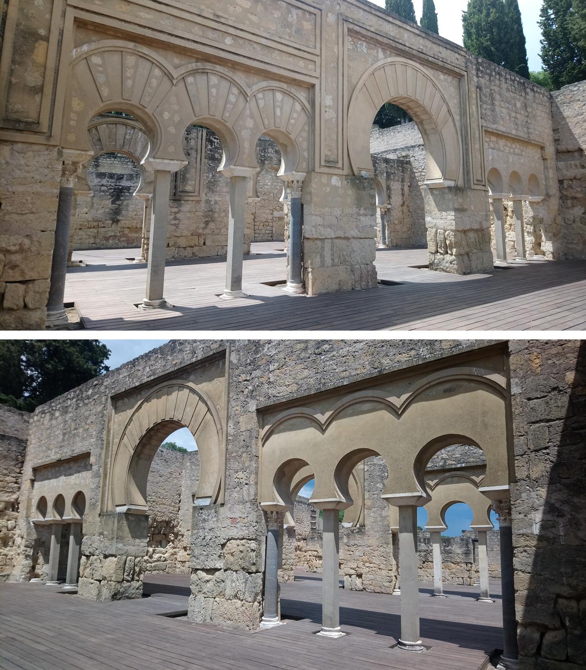 Arcos de herradura en Medina Azahara