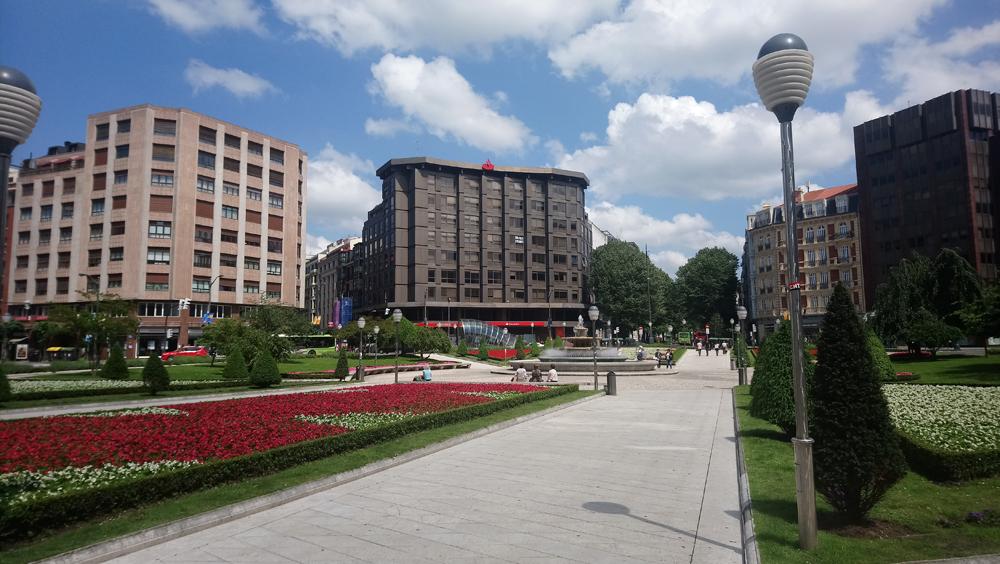 Plaza Moyua en Bilbao