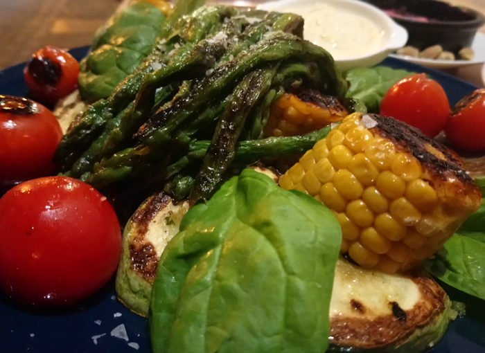 Parrillada de verduras en Tarifa
