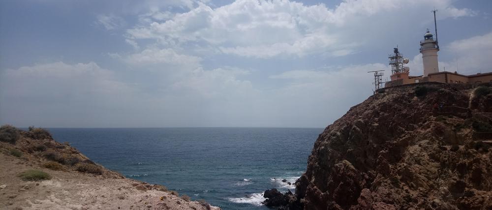 Vistas del Faro de Cabo de Gata