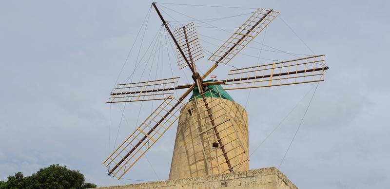 Ta' Kola Windmill en la Isla de Gozo