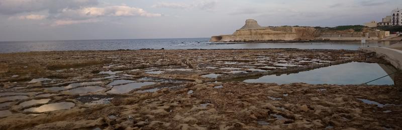 Salinas romanas de Malsalforn en Malta