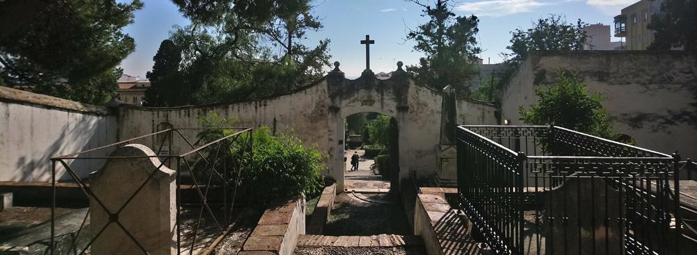 Cementerio inglés primigenio en Málaga