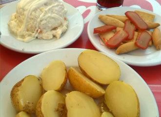 Comer en Parque Alcosa en el Bar El Cateto