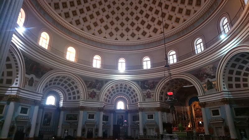 Iglesia de Mosta, en Malta