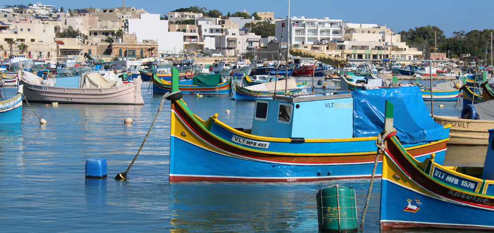 Ojos de Osiris en las barcas de pesca de Malta