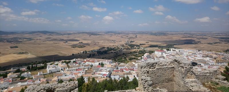Panorámica desde el Castillo de Medina Sidonia