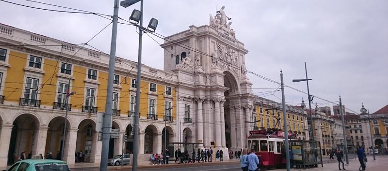 Arco del Triunfo en la plaza del Comercio de Lisboa