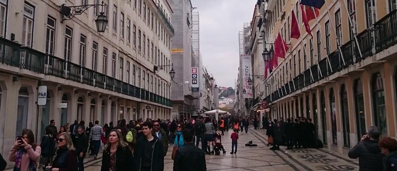 Centro histórico y comercial de Lisboa