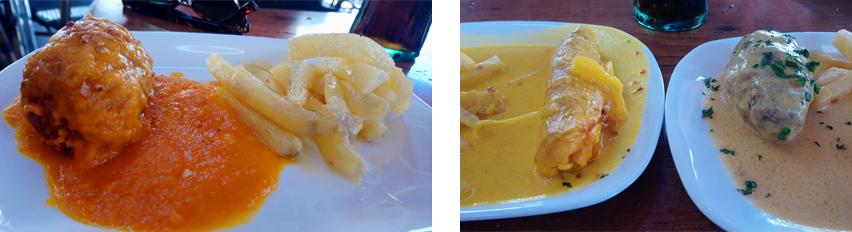 Bolo relleno de pollo en el Restaurante Paco Ortega de Medina Sidonia