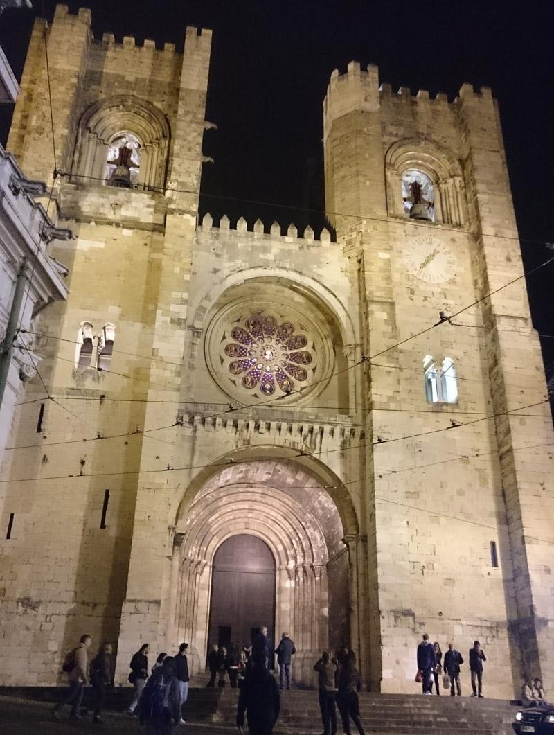 Fachada de la Catedral de Lisboa