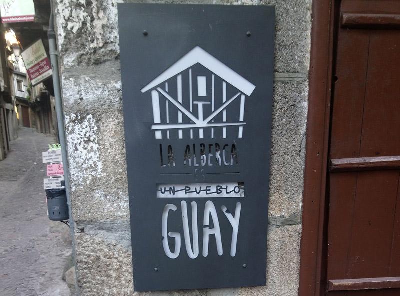 Cartel de La Alberca es guay