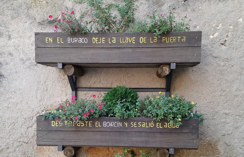 Frases en macetas en San Martín del Castañar