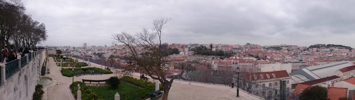 Vistas de Lisboa desde el Mirador de San Pedro de Alcántara