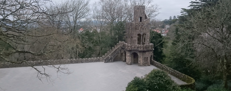 Torre do Zigurate en Quinta da Regaleira