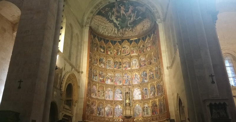 Ilustraciones del retablo mayor de la Catedral Vieja de Salamanca