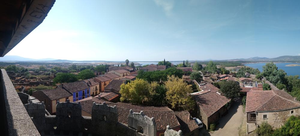 Panorámica desde el Castillo de Alba en Granadilla