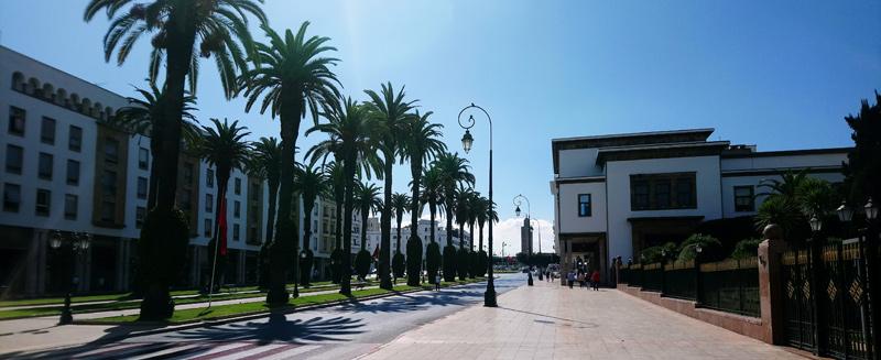 Avenidas de Rabat en Marruecos