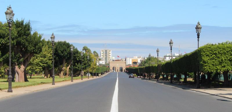 Vista interior de la Puerta Bab Soufara