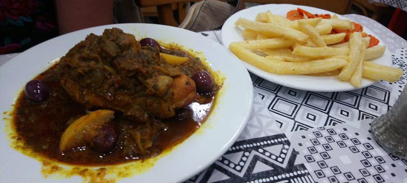 Poulet en salsa en Rabat