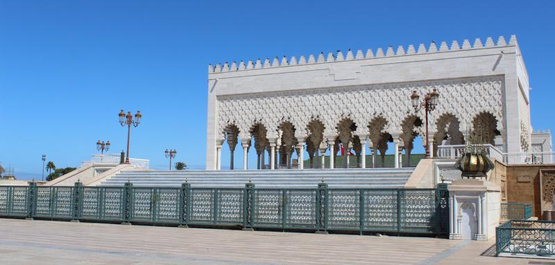 Visita al mausoleo de Mohamed V