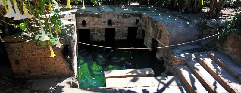 Estanque con anguilas en la necrópolis de Chellah
