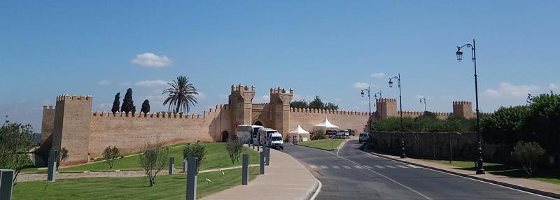 Entrada a la Necrópolis de Chellah en Rabat