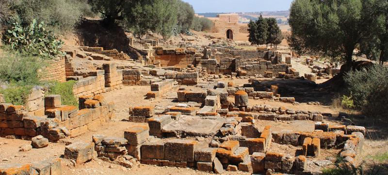 Ruinas de la necrópolis de Chellah en Rabat