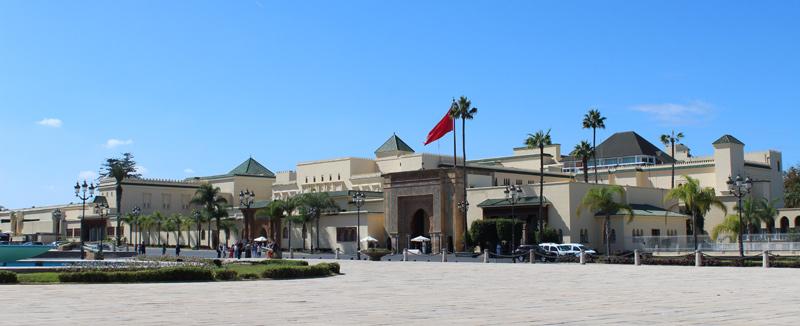 Entrada al Palacio Real de Rabat