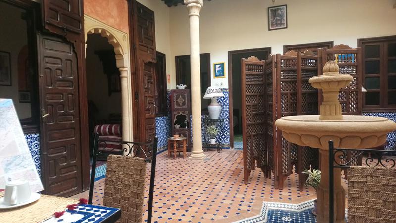 Alojarse en un riad de Rabat en Marruecos