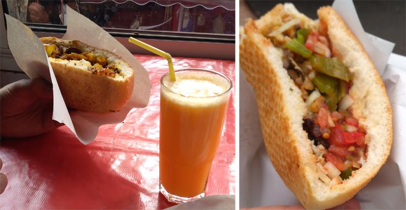 Comer en la medina de Rabat