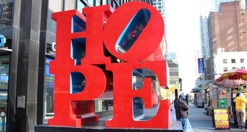 Estatua Hope en New York