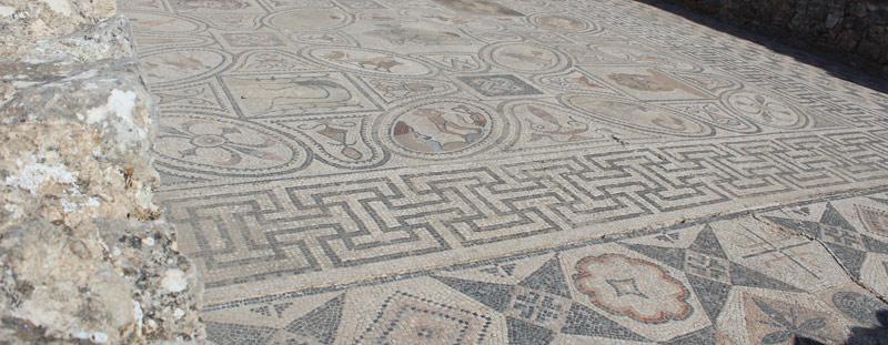 Mosaicos ciudad romana Oualili