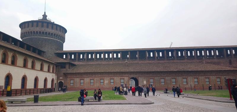 Milán: Castillo Sforzesco