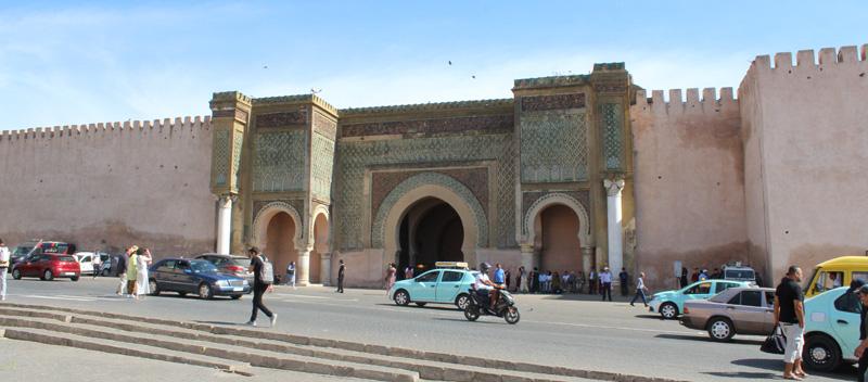 Puerta Bab Mansour en Meknes