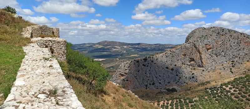 Vistas desde la antigua alcazaba de Archidona