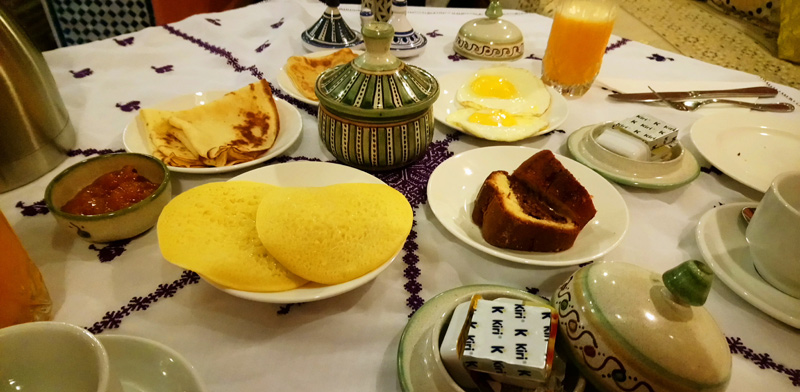 Desayunar en Meknes